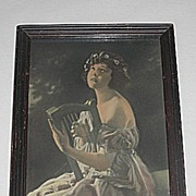 Romantic Scene of   Lady Playing Harp  Inspiring  Photographic Print