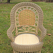 Antique Victorian Wicker Arm Chair Circa 1890's