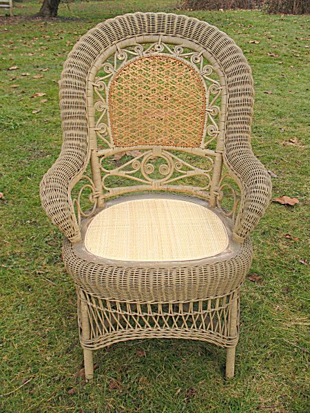Antique Victorian Wicker Arm Chair Circa 1890u0027s