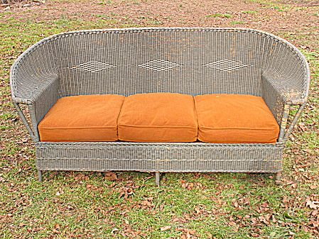 Vintage Art Deco Wicker Sofa Circa 1920u0027s : Dovetail Antiques And  Collectibles | Ruby Lane