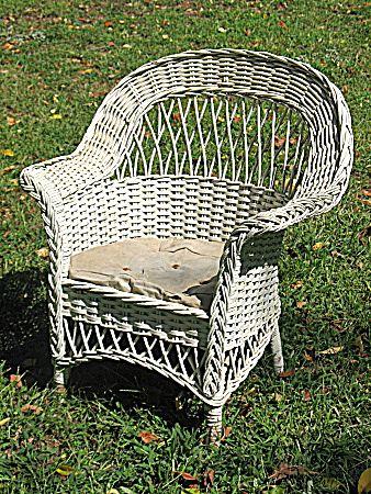 Vintage Child S Bar Harbor Wicker Arm Chair Circa 1920 S