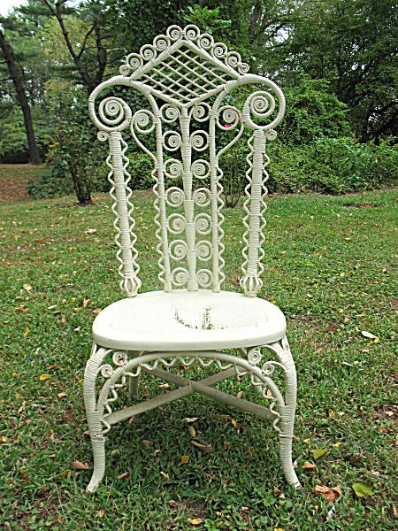 Antique Victorian Wicker Reception Chair Circa 890 S From