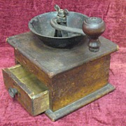Antique Coffee Mill Circa 1910