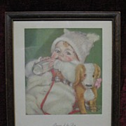 Vintage Beware of the Dog Print by Maud Tousey Fangel