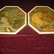 Pair of Vintage Prints Poppy Love and  Song of Happiness Annie Benson Muller Circa 1920's