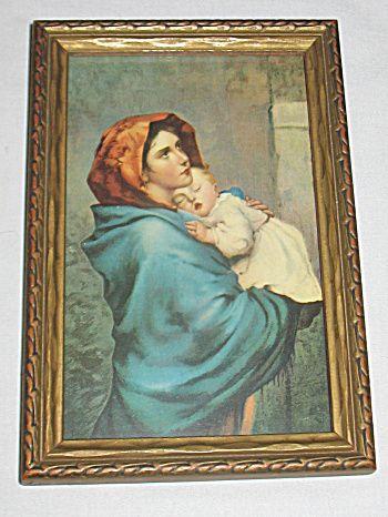 Vintage Madonna Of The Street Virgin Mary Holds Sleeping