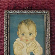 Vintage Miniature Baby Print by Charlotte Becker Circa 1920's
