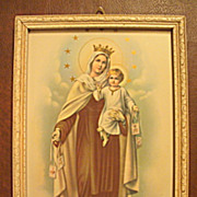 Vintage Mary Holding Baby Jesus   Inspiring Religious Print