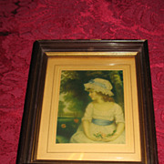 Vintage Portrait of a Little Girl Print Circa 1920's