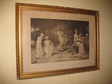 Antique Print When the Heart is Young by artist Maude Goodmann Circa 1893 Print