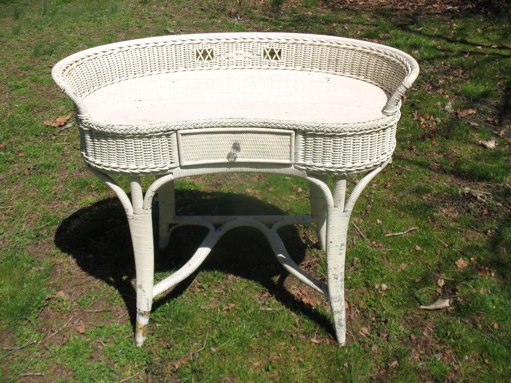 - Art Deco Wicker Desk Circa 1920's SOLD Ruby Lane