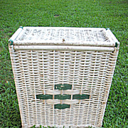 Vintage Wicker Hamper Circa 1920's