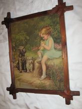 Antique Print Titled The Good Samaritan by Adalaide Hiabel Circa 1890's