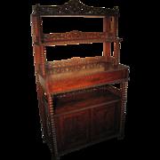 Rare Mahogany Victorian Sideboard Buffet Circa 1870's
