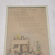 Vintage Buzza Prayer For The Home By Edgar A Guest Circa 1940