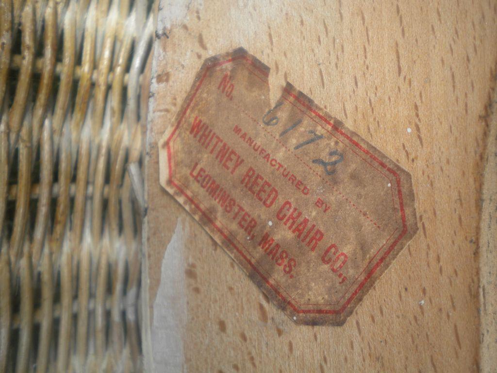 Rare Natural Antique Victorian Wicker Arm Chair Circa 1890