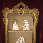 Vintage  Hanging Wood Cabinet Shelf Circa 1920's