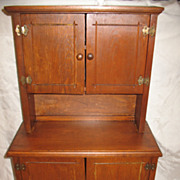 Vintage Child's Step Back Cupboard Wooden Circa 1920's