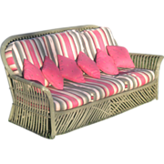 Vintage Stick Wicker Sofa Circa 1920's