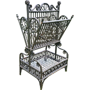 Ornate Antique  Victorian Wicker Sheet Music Stand Circa 1890's
