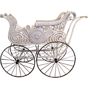 Ornate Victorian Wicker Carriage Circa 1890's