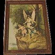 Vintage Guardian Angel Print Circa 1920's