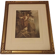 Vintage Religious Print Titled The Good Shepherd by Charles Bosseron Chambers Circa 1920's