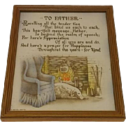 Vintage Buzza Father Motto Titled To Father Circa 1920's