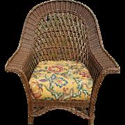 Vintage Bar Harbor Wicker Chair Circa 1920's