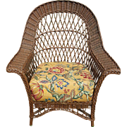 Vintage Bar Harbor Wicker Chair Circa 1920's