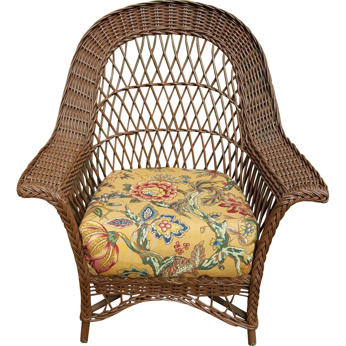 Charmant Vintage Bar Harbor Wicker Chair Circa 1920u0027s : Dovetail Antiques And  Collectibles | Ruby Lane