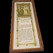 Vintage Prayer to Saint Joseph Print Circa 1928