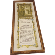Vintage Prayer to Saint Joseph Print Circa 1928