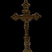 Vintage Brass Crucifix  Circa 1910