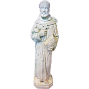Vintage Garden Statue of Saint Francis of Assisi Circa 1920's