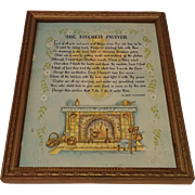 The Kitchen Prayer by Klara Munres Circa 1920's