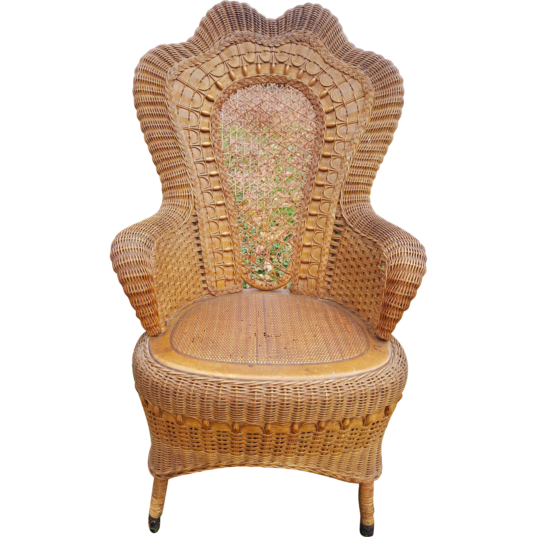 Fancy Antique Natural Victorian Wicker Arm Chair Circa 1890 39 S From Doveta