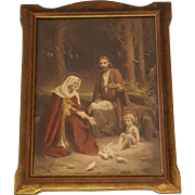Holy Family Print by Charles Bosseron Chambers Circa 1920's