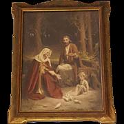 Holy Family Print by Charles Bosseron Chambers Circa 1920's