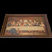 Vintage The Last Supper Print by Leonardo Da Vinci Circa 1920's