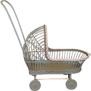 Vintage Wicker Doll Carriage  Circa 1920's