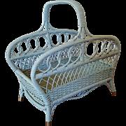 Vintage Wicker Wood Basket Magazine Basket Circa 1920'S