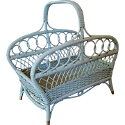 Vintage Wicker Wood Basket Magazine Basket Circa 1920'S