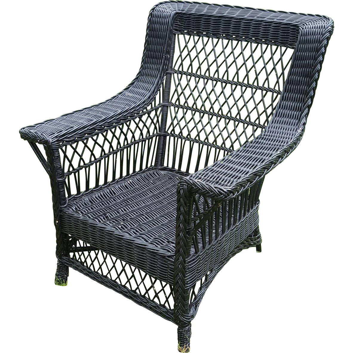 Large Vintage Bar Harbor Wicker Arm Chair Circa 1920 S