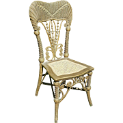 Antique Victorian Wicker Reception Chair  Circa 1890's