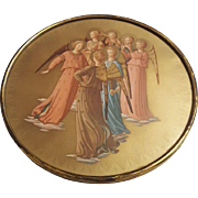 Vintage Print by Fra Angelico Titled A Group of Angels Circa 1920's