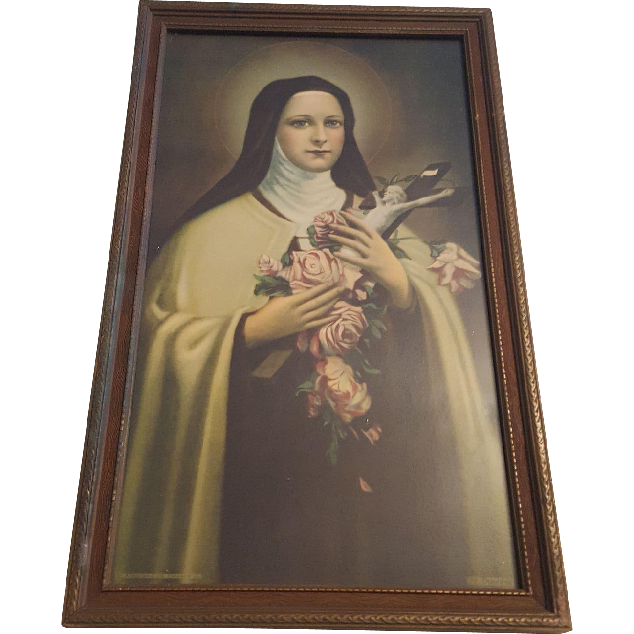 Vintage Saint Therese Print Circa 1920 s from dovetail on Ruby Lane