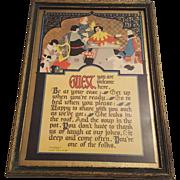 Vintage Buzza Guest Motto  Circa 1925