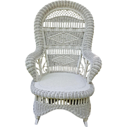 Antique Victorian Fancy Wicker Rocker Circa 1890's