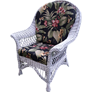 Vintage Bar Harbor Wicker Arm Chair Circa 1920's